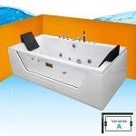AcquaVapore Whirlpool Pool Badewanne Wanne A1813NA mit Reinigungsfunktion 90×185, Selfclean:aktive Schlauch-Reinigung +70.-EUR
