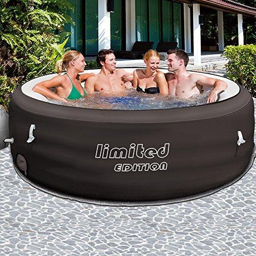 Bestway Lay-Z-Spa Limited Ø 196cm mit Filterpumpe – Whirlpool beheizter Pool Outdoor