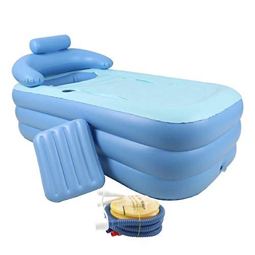 co z aufblasbare badewanne plastik badewanne faltbar klappbar beweglich inflatable bathtub relax pool mit nackenkissen und luftpumpe erwachsene pvc plastik - CO-Z Aufblasbare Badewanne Plastik Badewanne faltbar klappbar beweglich Inflatable Bathtub Relax Pool mit Nackenkissen und Luftpumpe Erwachsene PVC Plastik