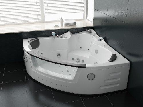Luxus Whirlpool Badewanne 152×152 mit Vollausstattung (Massage)