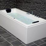 Whirlpool Badewanne Venedig MADE IN GERMANY rechts oder links 150 / 160 / 170 x 75 cm mit 6 Massage Düsen + MIT Armaturen runde rechte / linke Eckbadewanne